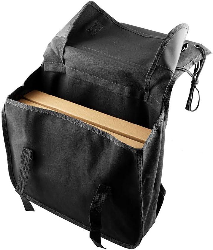 DIYARTS Motorcycle Saddle Bag Canvas Adjustable Straps Motorcycle Tool Bag for Most Motorcycle Models Brown