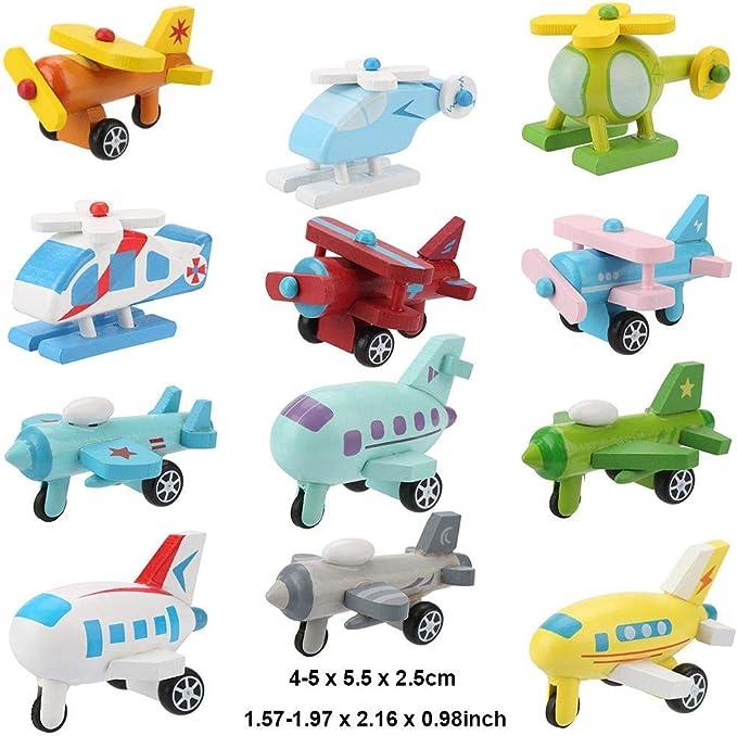 paket Mini Cartoon Hubschrauber Zurückziehen Flugzeug Modell 10 Teile