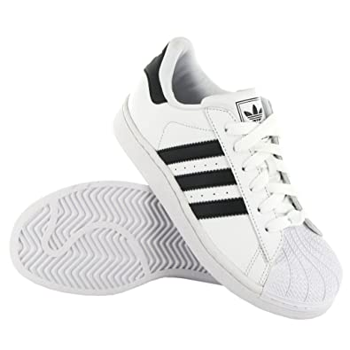 finest selection 318f8 d83e2 Adidas Superstar II C White Black Leather Kids Trainers Size 13 UK   Amazon.co.uk  Shoes   Bags