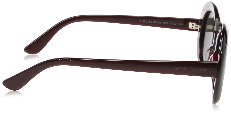 6f3d82045d Yves Saint Laurent sunglasses California (SL-98 009) Dark Bordeaux -  Transparent Bordeaux - Grey green lenses at Amazon Men s Clothing store