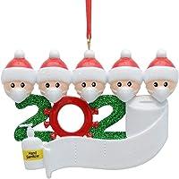 3D driedimensionaal kerstversiering, 2020, gepersonaliseerde overlevende familie van 2, 3, 4, 5 kerst 2020…