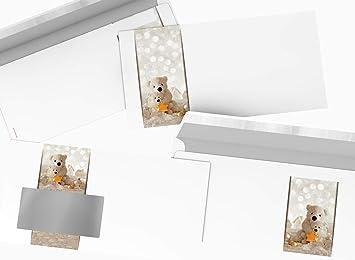 Briefumschlag DIN LANG weihnachtliches Motiv Winter-Wunderland 10 Umschl/äge MIT FENSTER Weihnachtsbriefumschlag
