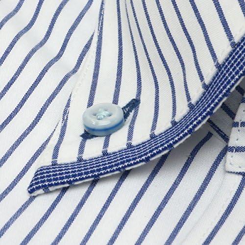 ブリックハウス ワイシャツ 長袖 形態安定 フィットインナー ボットーニ ボタンダウン スリム メンズ BM018200AB11V3F-10