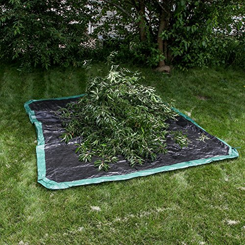 Shefko 0-99393-10909-4 Yard Tarp 8.2 X 8.2 - Versatile Drawstring Tarp for Yard Clean Ups - Convenient and Handy - Formed Into an Instant Dragging Bag - Ideal as BBQ Grill and Outdoors Furniture Cover by Shefko (Image #7)