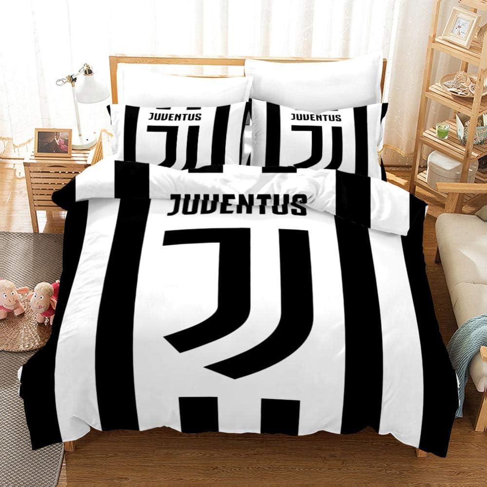 WPHRL Fans de Football Parure de lit avec Housse de Couette en Microfibre 140x210cm