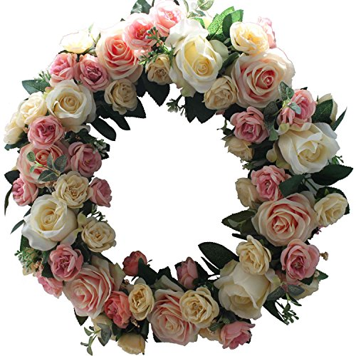 Wedding car decor amazon rose wreath home wall decor wedding decorations junglespirit Choice Image