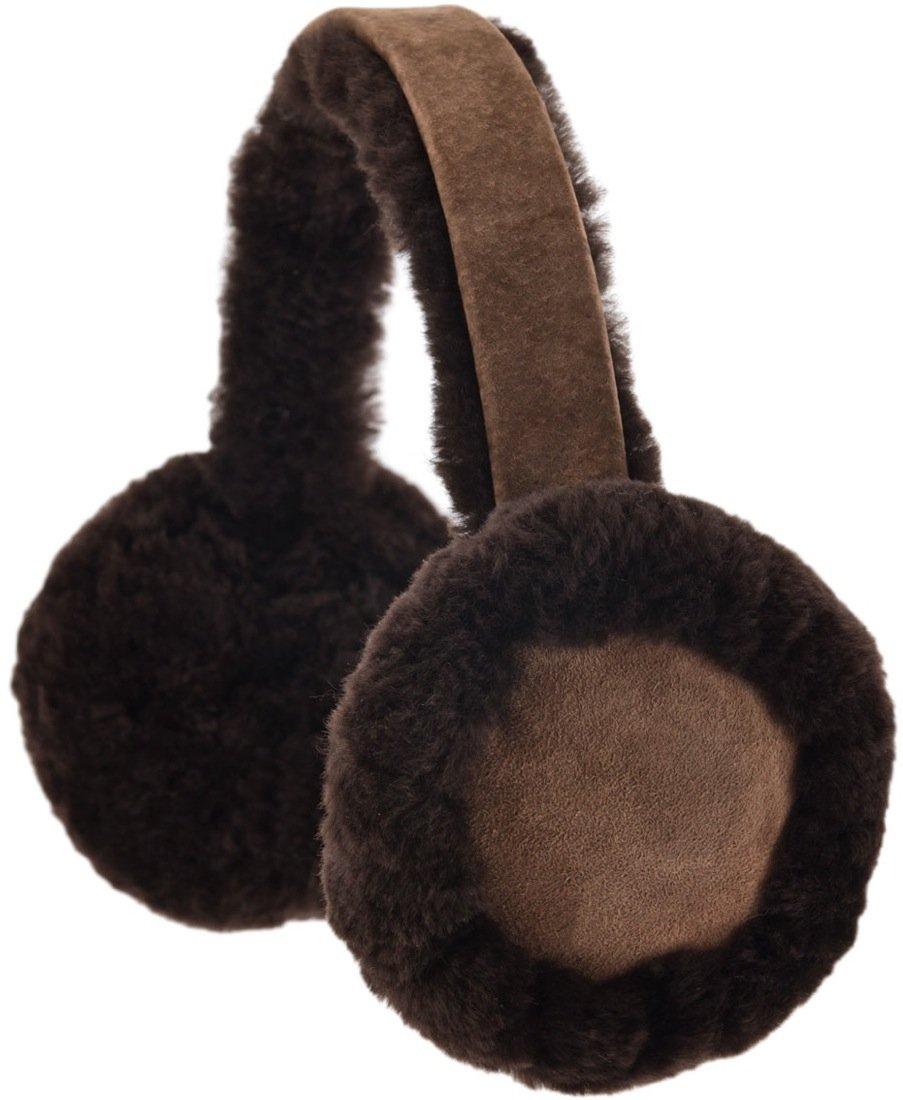 Snugrugs Ladies Full Sheepskin Ear Muffs with Gift Box, Brown
