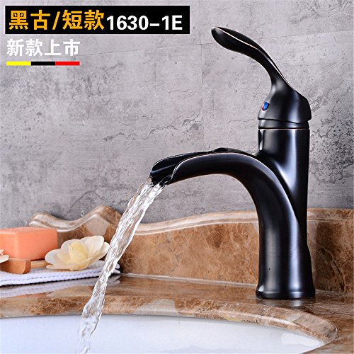 Ling Kitchen Sink Faucets Basin Mixer Faucet Tap Bathroom Faucet Tap Hot Cold Single Hole Full Copper Gold Black Antique Bathroom. Spout Water Pull Out - Black Antique Bath Faucet
