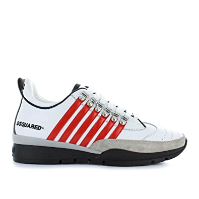 0b46f591ef5d9b Men s Shoes Dsquared2 251 White Red Sneaker Spring Summer 2018  Amazon.co.uk
