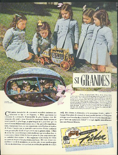 - Si Grandes Dionne Quintuplets for General Motors Body by Fisher ad 1940