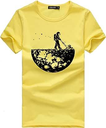 Fannyfuny Hombres Mujeres Pareja Camisetas Hombres Mujeres Pareja Modelos Patrón Imprimir O-Cuello de Manga Corta Barata Camiseta Tops Blusa de Amor Camiseta Blanca Hombre: Amazon.es: Ropa y accesorios