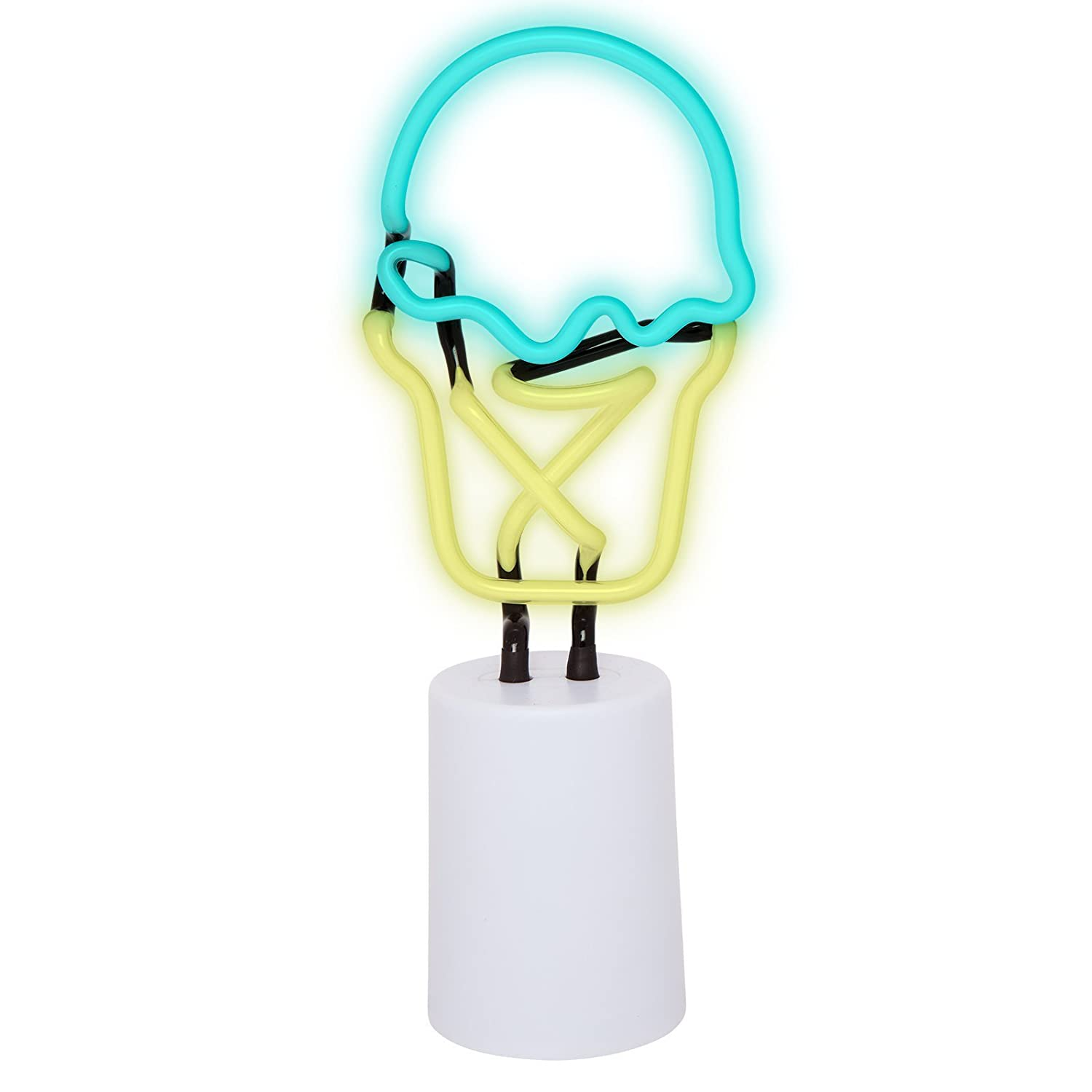Sunnylife Indoor Decorative Neon Light Figurine Tube Desk Lamp with Adjustable Dimmer S8ONESIC
