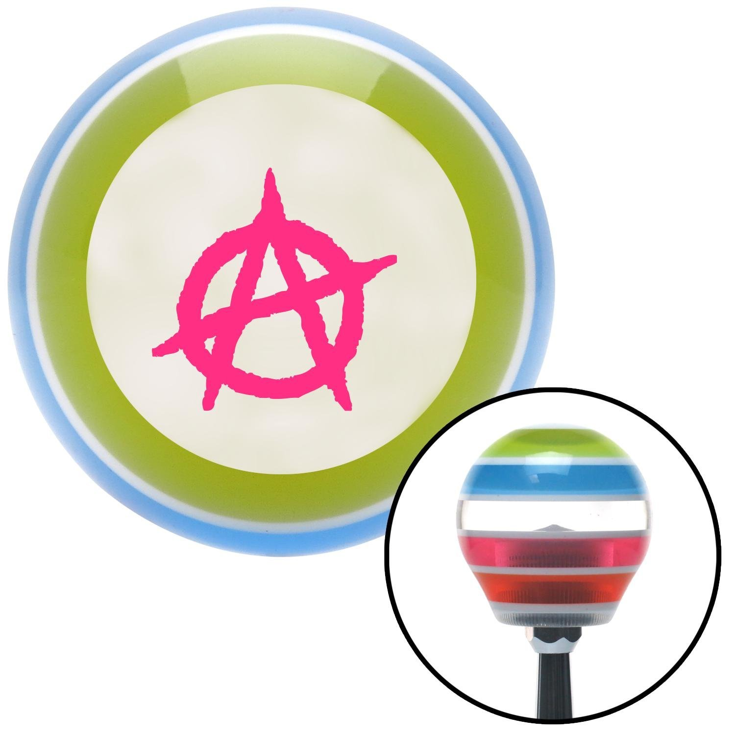 Pink Anarchy American Shifter 137210 Stripe Shift Knob with M16 x 1.5 Insert