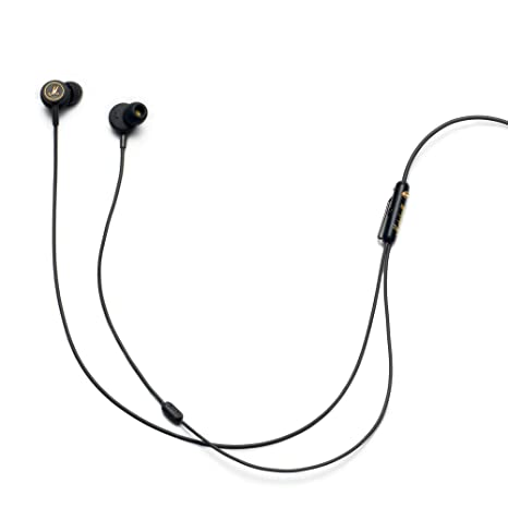 Marshall 4090940 Mode EQ in-Ear Headphones (Black/Brass) Mobile Phone Wired Headsets at amazon