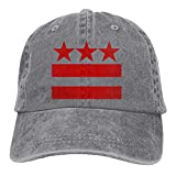 Washington DC Flag Unisex Baseball Cap Cotton Denim Adjustable Outdoor Sports Cap for Men Or Women