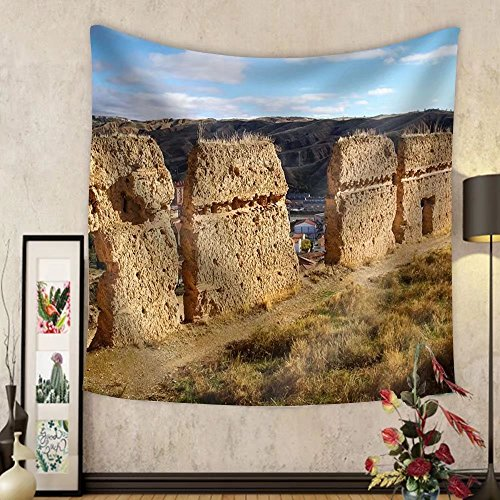 Gzhihine Custom tapestry Image of Medieval Town Daroca Teruel Aragon Spain - Fabric Wall Tapestry Home Decor by Gzhihine