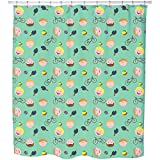 Game Boys Shower Curtain: Large Waterproof Luxurious Bathroom Design Woven Fabric