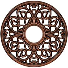 Westinghouse 7776400 Round Parisian Scroll Polyurethane Ceiling Medallion, Antique Bronze