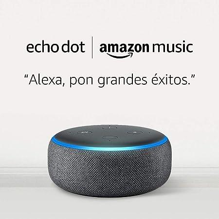 Image ofEcho Dot (3.ª generación) - tela de color antracita + 1 mes de Amazon Music Unlimited por 19,98 €