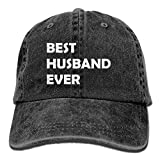 E-Isabel CYANnY Best Husband Ever Adjustable Cross-Country Cotton Washed Denim Hat Black