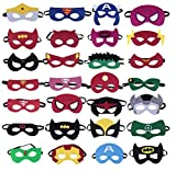 Superheroes Party Masks,28 Piece Felt Mask Birthday Party Supplies Cosplay Toy For Children/ Kids /Adults