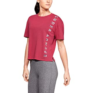 Under Armour Mesh Around SS, Maglia a Maniche Corte Donna 1341955