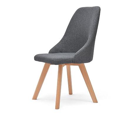 b0d505de6665c Amazon.com: JCOCO Chair-cotton/cotton backrest chair/ Nordic home ...