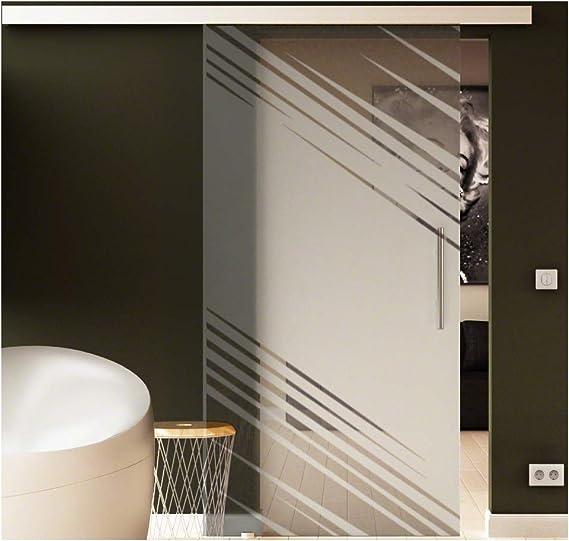 Puerta Corredera de Cristal Transparente Cristal levidor® Easyslide Sistema de riel unidad Completo y barra de mango Puerta corrediza de cristal para interiores de cristal de seguridad monocapa de muy alta calidad.