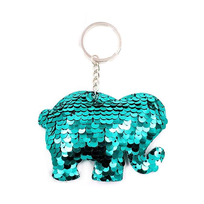 Amazon.com: Iumer Llavero de lentejuelas elefante delfín oso ...