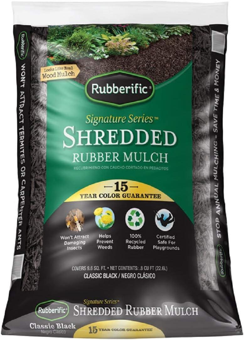 RUBBER MULCH BLACK by RUBBERIFIC MfrPartNo RM8BK