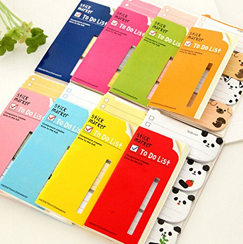 arcturus 4PCS Cute To Do List Sticker Post Bookmark It Marker Memo Flags Index Tab Sticky Note