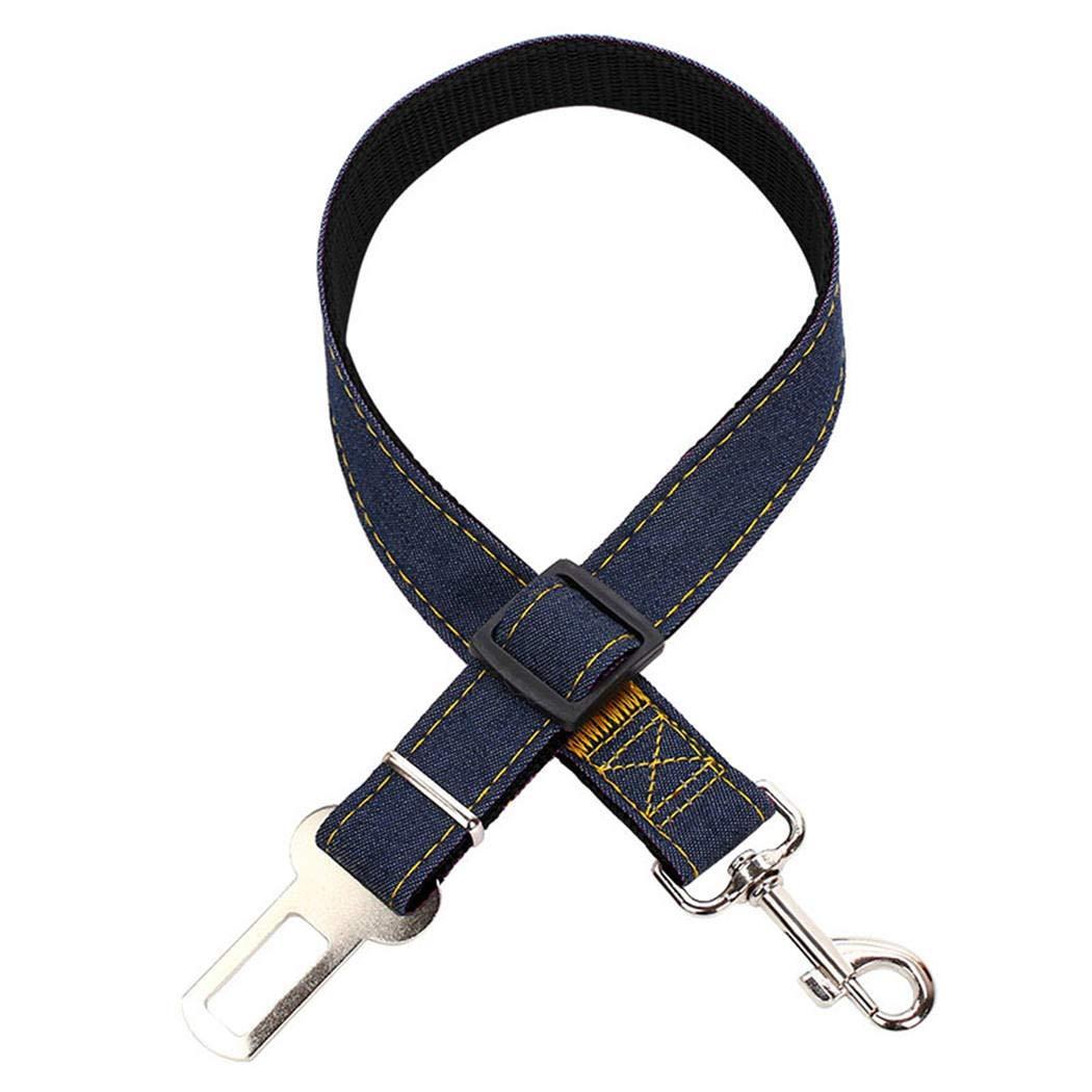 LENOSS Cuerda de Seguridad para Mascotas Perros con Hebilla de Seguridad cintur/ón de Seguridad para Perros cintur/ón de fijaci/ón para autom/óviles Red