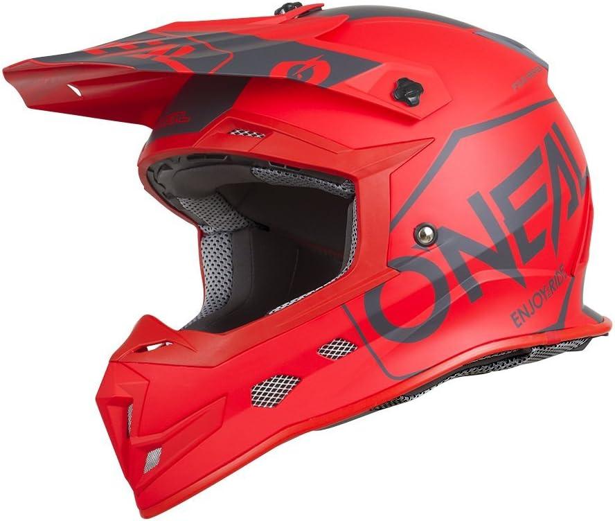 Gr/ö/ße XL Farbe Rot ONeal 5Series Hexx Motocross Helm Motorrad MX Enduro Trail Quad Cross Offroad 0618