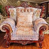 European Style Sofa Pad/Flax,Genuine Leather,Solid Wood Sofa Cushion/Anti-skidding ,Four Seasons Sofa Sets/Sofa Towel-C 70x70cm(28x28inch)