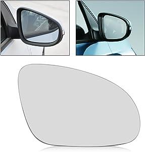beler Car Right Side Heated Door Wing Mirror Glass Fit for VW Golf GTI Jetta MK5 EOS Rabbit Passat