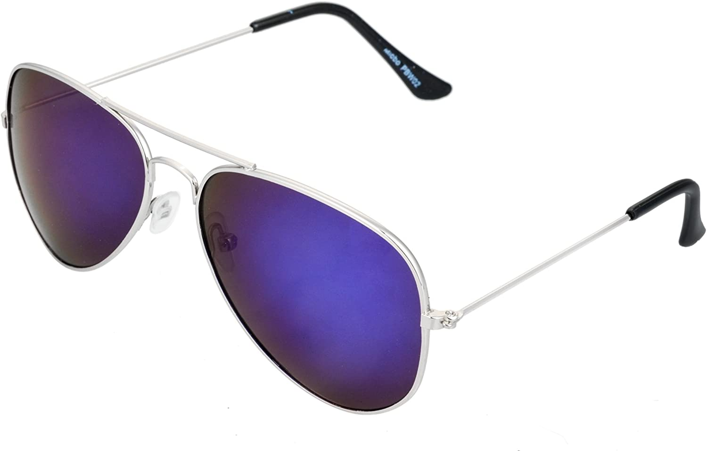 con cerniera a molla a specchio Occhiali da sole da aviatore Miobo diversi colori