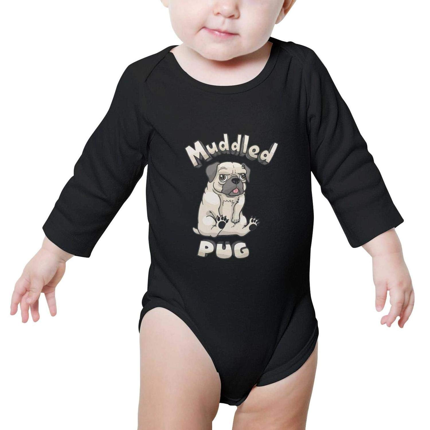 Ninja Stars Pig Long Sleeve Natural Organic Baby Onesie Outfits Novelty for Boys Girls