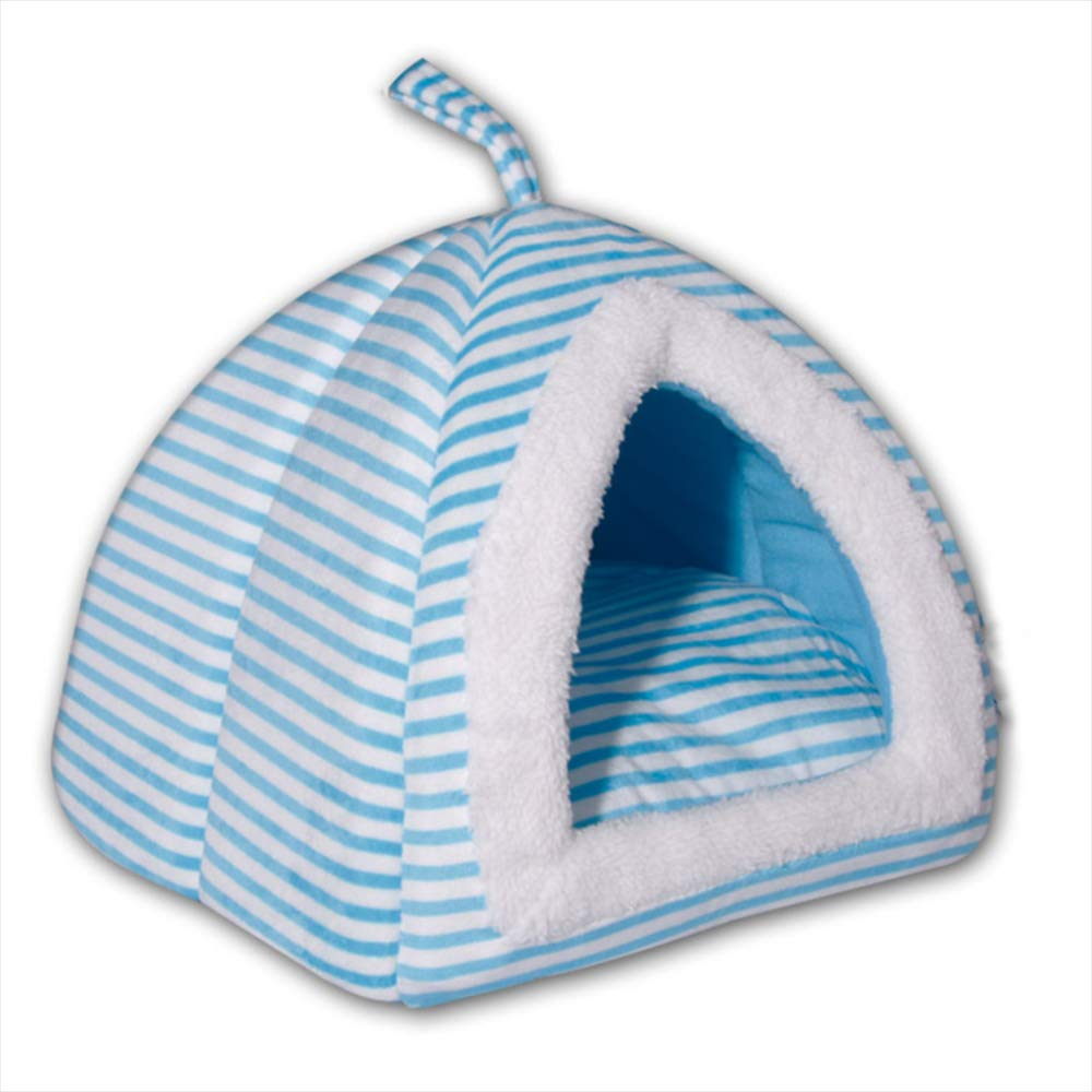 Pet Kennel Mat Small Dog Cat Litter Tent Yurt Soft and Comfortable Autumn and Winter Warm Pet Room Cat House,C,M