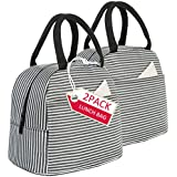 Lunch Bag 2 Pack Reusable Insulated Lunch Box Tote Bags-Lunch...