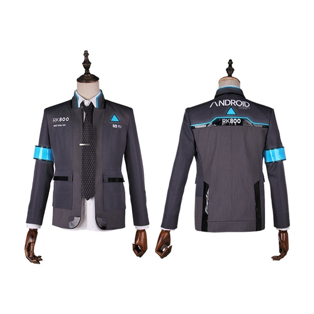 starfun Detroit: Become Human Cosplay Connor's Cosplay Costume Men's Jacket Suit Asian Size