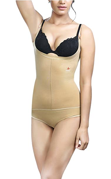 f89f368d85 Adorna Women s Cotton Body Bracer Panty Transparent Straps Shapewear  (Beige