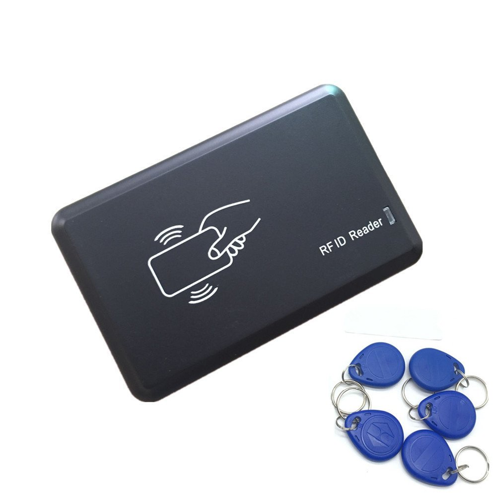 125KHZ RFID ID Card Reader Writer Copier Duplicator For Access Control + 5 PCS T5577 Tags by JEERUI