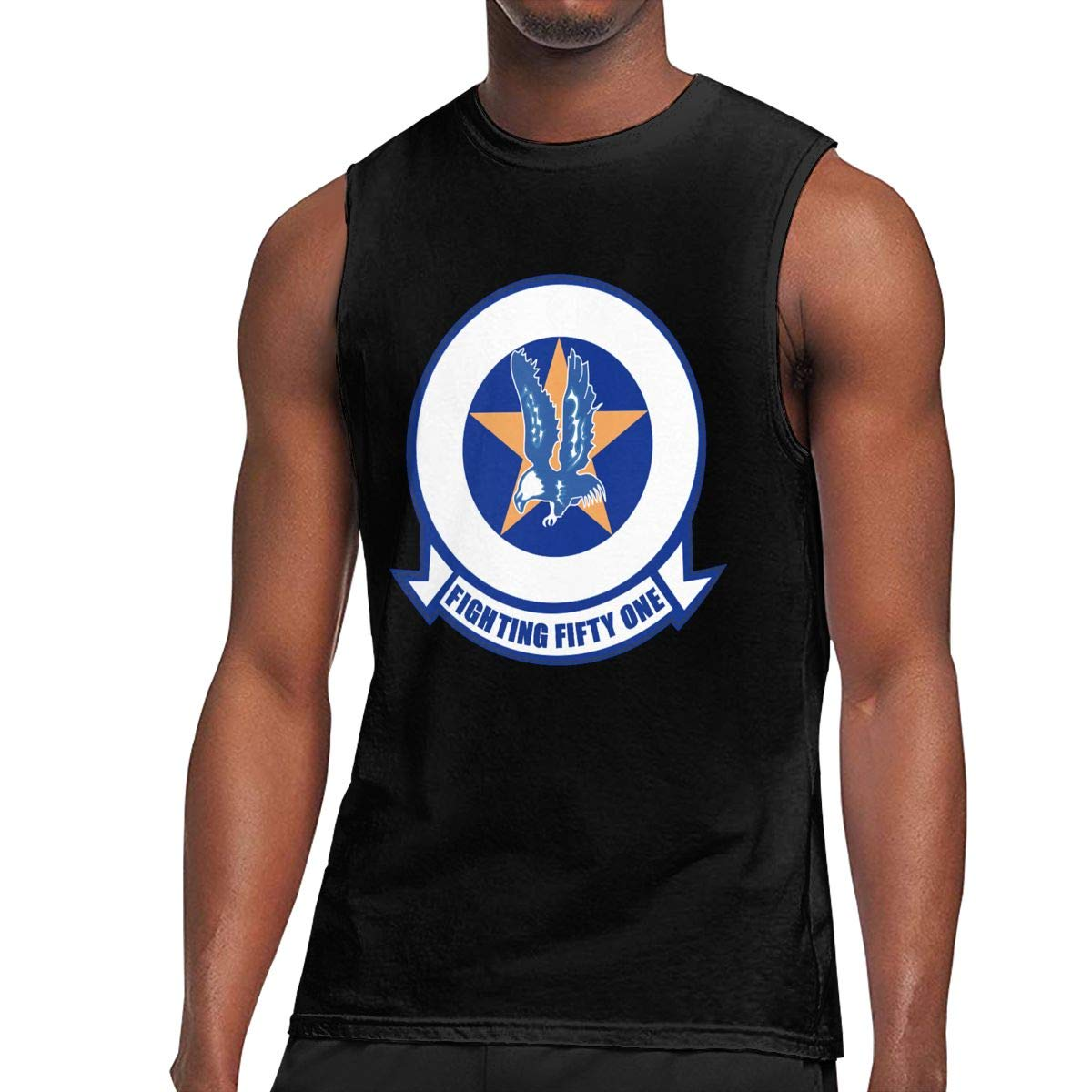 Mens VF-51 Screaming Eagles Muscle Workout Jersey Tank Tees