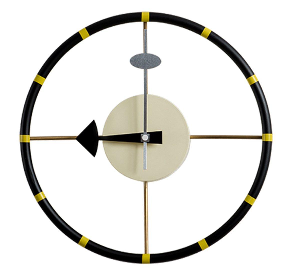 ステアリングホイールクロック ジョージ ネルソン デザイナー壁時計 B078H6BGZ1 ステアリングホイールクロック ステアリングホイールクロック