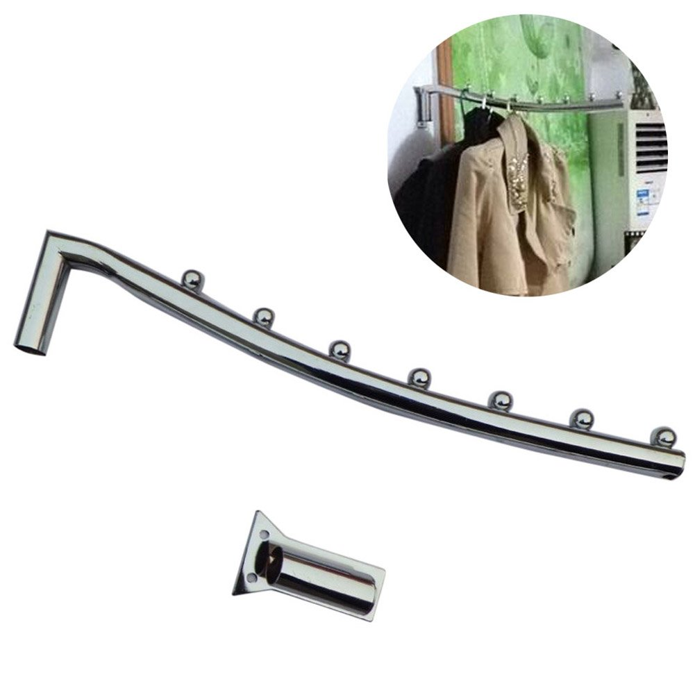 Zlimio 16'' Stainless Steel Wall Mount Clothes Hanger Rack Hook Swing Arm Ball Holder