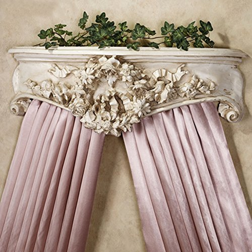 Hickory Manor House Bedcrown Floral Wreath, Old World White