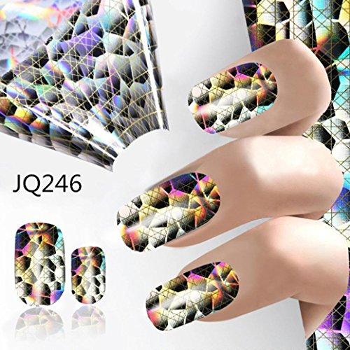 Vovomay Nail Foil Sticker,Major Design Nail Art Foil Stickers Transfer Decal Tips Manicure DIY Nail Foil (E)