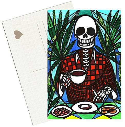 Marijuana Breakfast Survivalist Skull 4