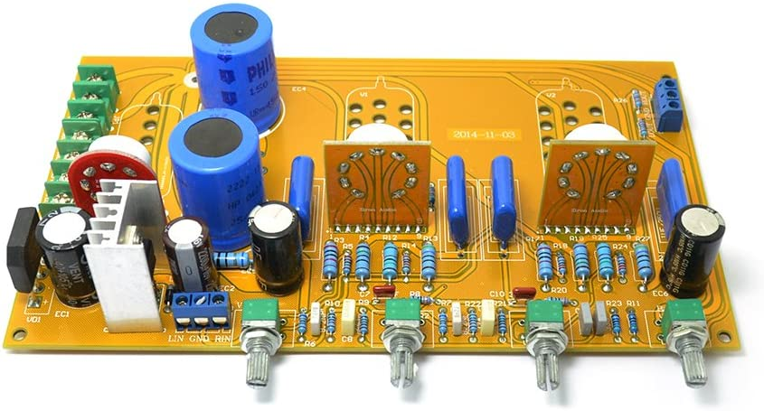 Pre Amplifier Board 6n1 6z4 Tube Preamp Tone Ar with Volume Bass Treble Balance Adjustment 6h23 6dj8 6922