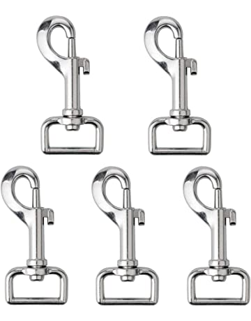 Nuluxi Round Shape Carabiner Rings Zinc Alloy Round Carabiner Hook O Ring Round Carabiner Snap Clip Easy to Operate and Quick Release Suitable for Attaching to Backpack Handbag or DIY Crafts-20 Pieces